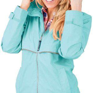 Charles River Teal Rain jacket